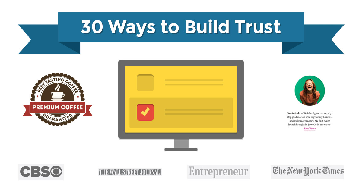 30 Ways to Build Trust on Your Website