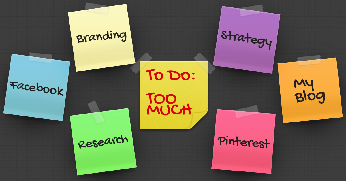 Small Business Online Marketing Post It Notes