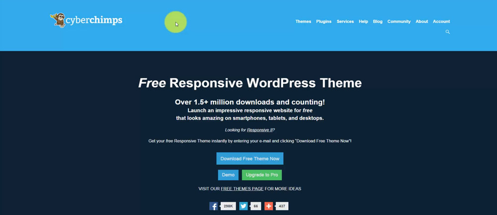 CyberChimps Responsive WP Theme Website