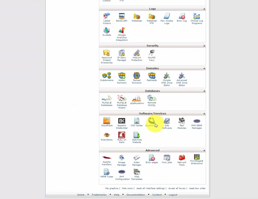 cPanel QuickInstall