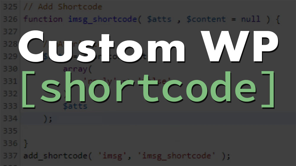 WordPress Shortcode Custom PHP