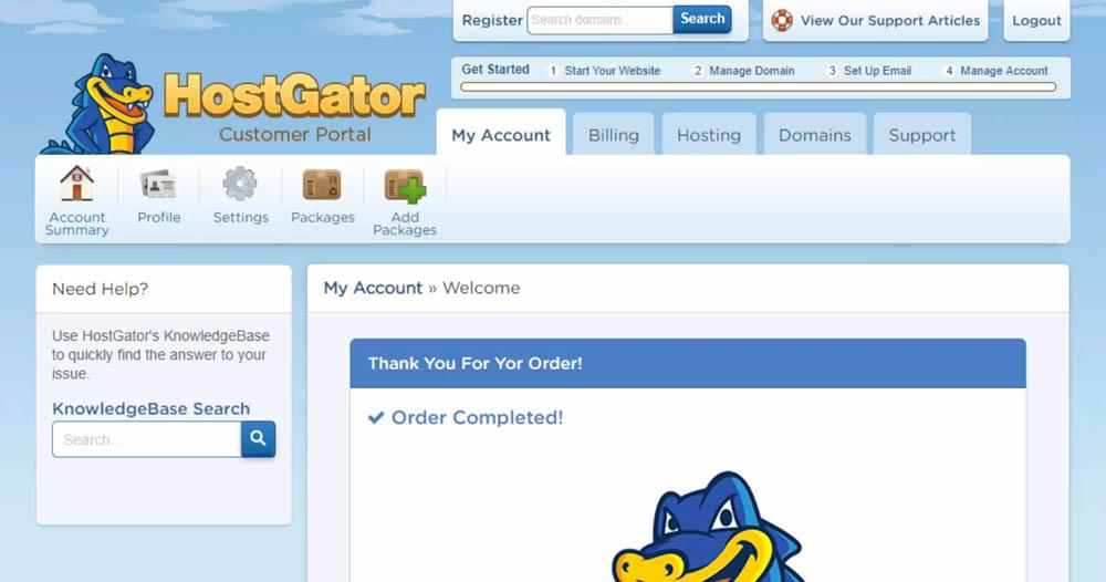 HostGator Customer Portal