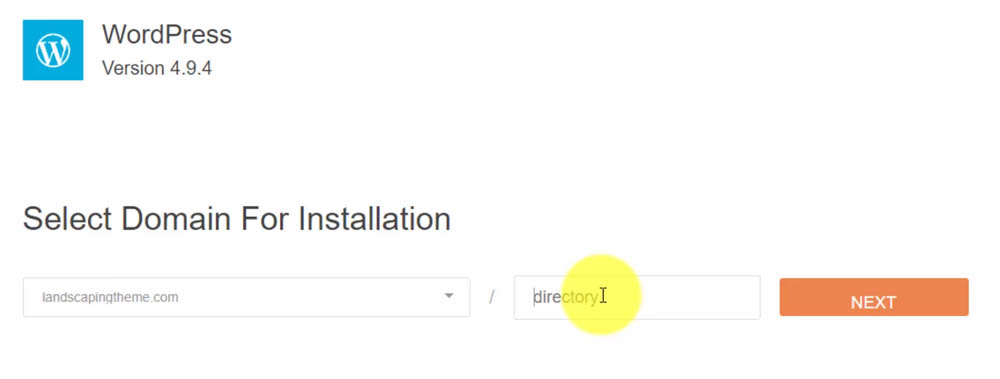 How to Install WordPress - Select Domain