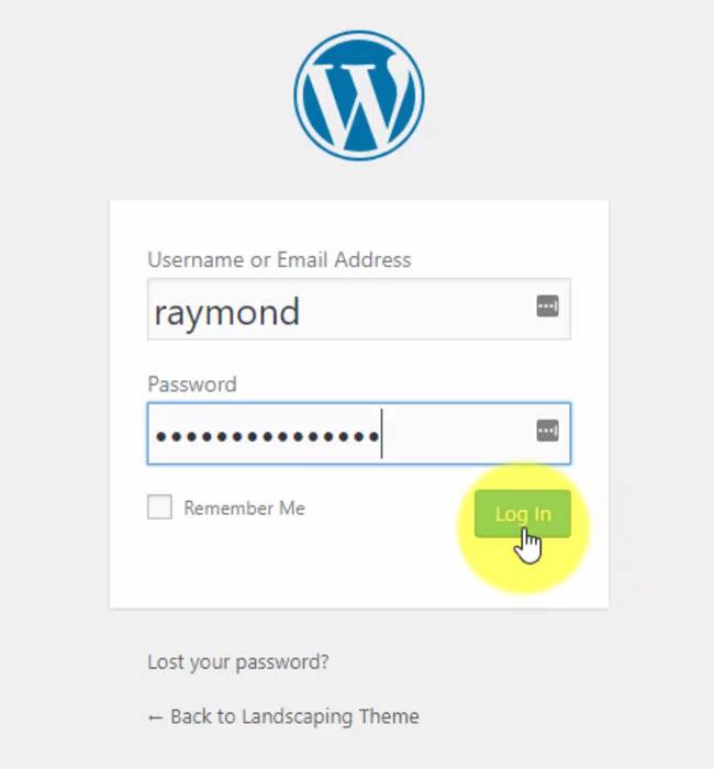 Logging into Your WordPress Website
