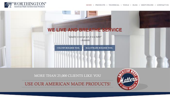 Worthington Millwork homepage